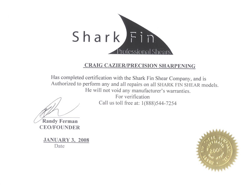 SharkFin Certification